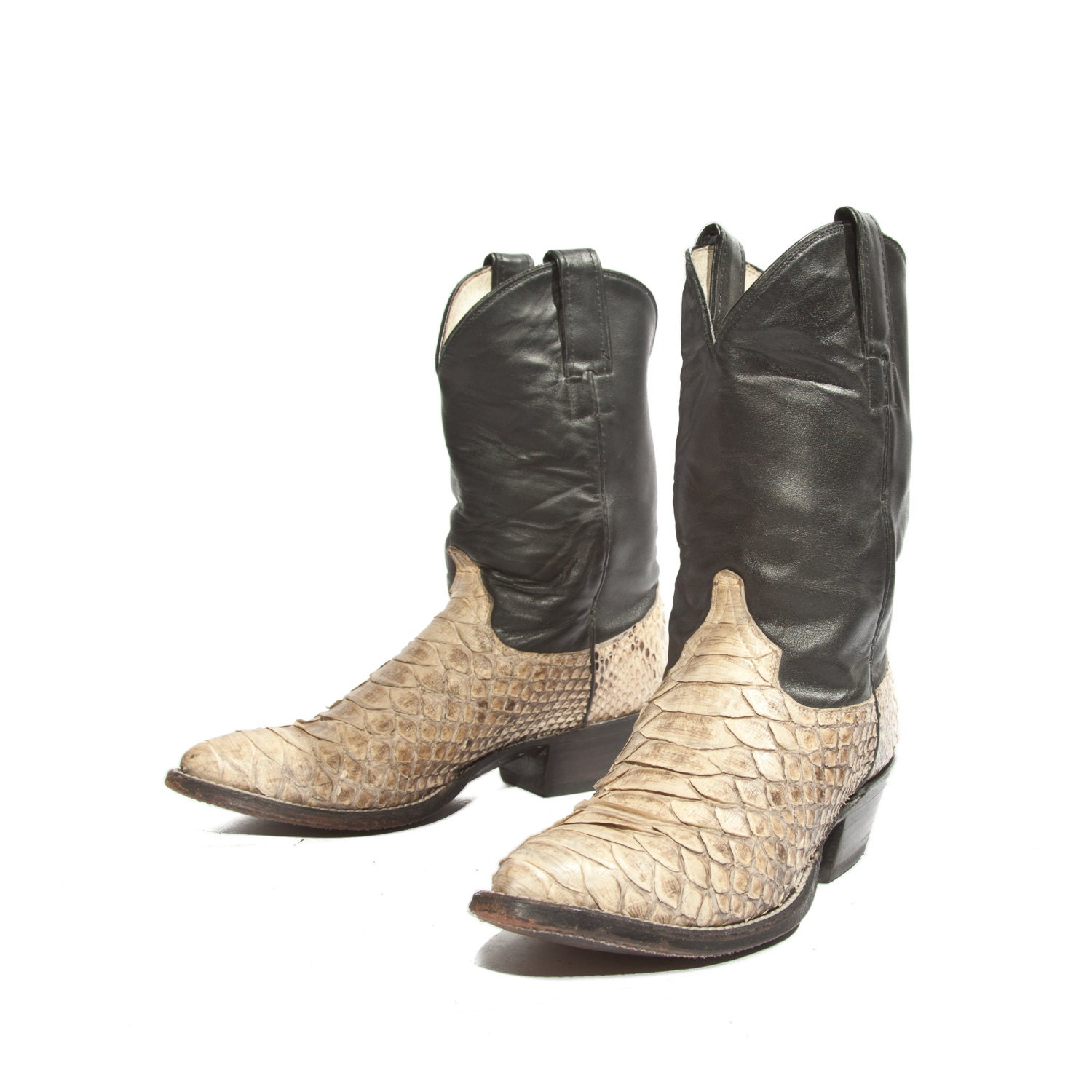 s shorty python snakeskin cowboy boots yellow