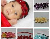 Petite Flower Baby Headband, Toddler headband, Adult Headband