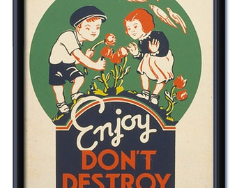 WPA Art - Enjoy Don't Destroy