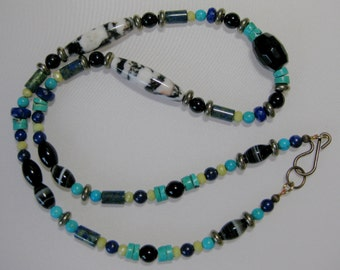Multigem long necklace: charity donation