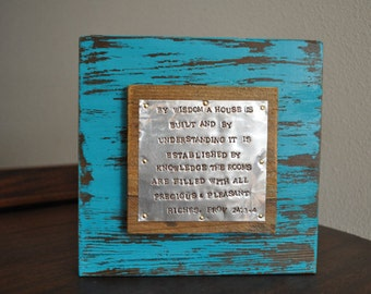 Scripture house warming gift, wedding gift, bible verse, religious gift