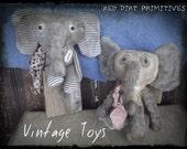 Vintage Toys E Pattern