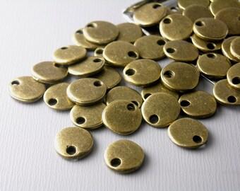 DISC-AB-8MM - 10 pcs of Antiqued Bronze Tiny Disc