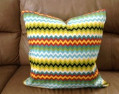 Multi Color Chevron Pillow Cover, 16-18-20 inch sizes available