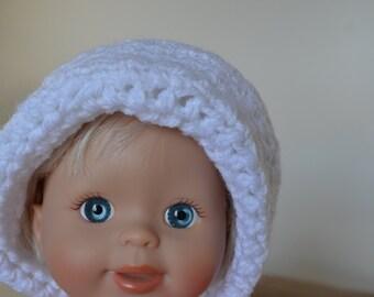 Crochet Acrylic White Baby Hat - 417