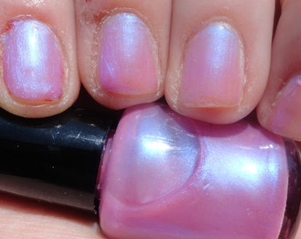 Doctor Who LINDA Indie Franken Nail Polish Lacquer Pink Blue Interference
