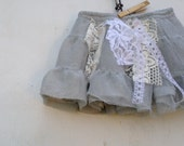 gray tulle baby boho Rustic  prairie baby birthday lace sparkle  party fashion fashion toddler infant skirt