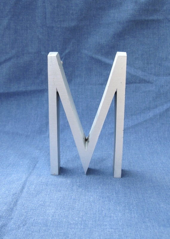 Vintage / Wall / Letter M / Home Decor / Industrial / Metal / Aluminum / Decorative Wall Hanging / Letter / Upcycled Recycled