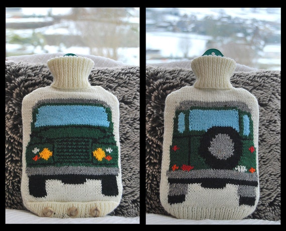 Knitting Pattern Knit a Hot Water Bottle Cover Based on the