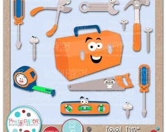 Tool Time Cutting Files & Clip Art - Instant Download