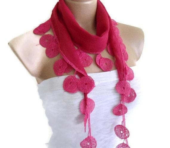 Rose bonbon scarf, Special Fashion Lace Scarf , fashion, gift,  valentine,   trend scarf,