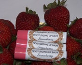CLOSING SALE STRAWBERRY Shea Butter Lip Balm No Preservatives Mineral OIl Or Dyes