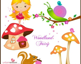 WOODLAND Fairy - Clip art for personal and commercial use.