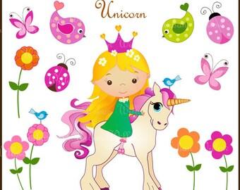 Fairy Clipart Cute Flying fairies Fairy with Golden Hair