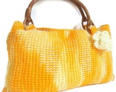 Reserved for (ryoung)  (Variegated yellow and white) crochet bags and purses discount
