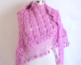 ON SALE SHAWL discount pink  colors shawl handmade  scarf collar,cowl,wrap,necklace