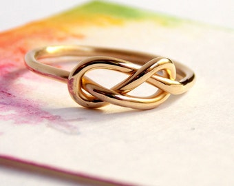 Infinity Knot Ring: 14K Goldfilled ring, golden ring, love ring, love knot, Mother's Day, promise ring, friendship ring, Valentine's Ring