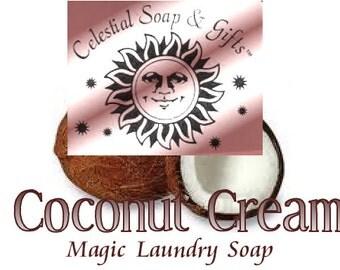 Coconut Cream 2 pounds 12 oz Natural VEGAN Laundry Soap Powder Bag. - 40-80 LOADS Gross Wt. 44 oz. Detergent