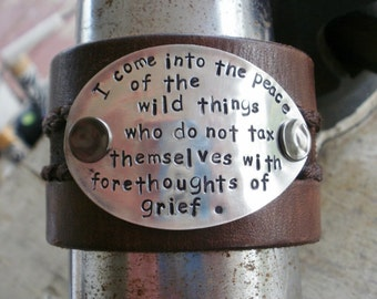 Wild Things upcycled leather and silverware cuff