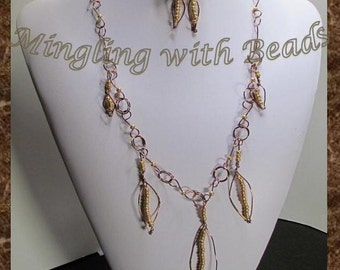 Fall Leaf necklace set