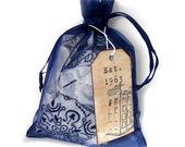 Police Box Surprise Package, Present in Blue Organza Gift Bag, Custom Available