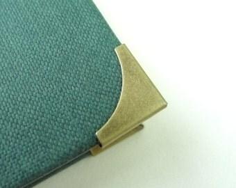 20 Antique Bronze Metal Book Corners - Bookbinding - Scrapbooking - Photo Album - Diary - Journal
