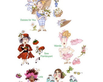 Busy Ladies Embroidery Design Collection - CD