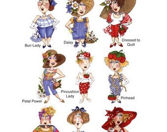 Fun Ladies Embroidery Design Collection - CD