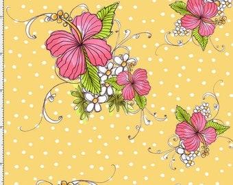 Lady Luau Sunshine Fabric Yard by Loralie