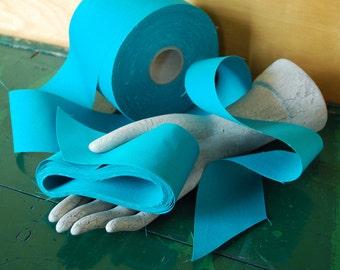 "Turquoise Blue Ribbon, Trimmed Fabric 10 Yards x 2 1/2"", Aqua Blue"