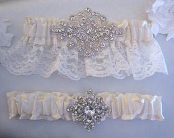 Vintage Diamond Style Garters Toss One Keep One