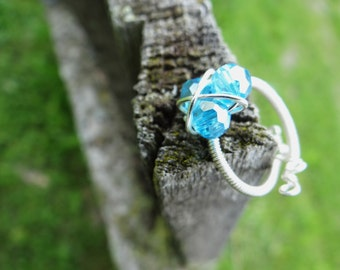 The Legend of Zelda® Magical Zora's Sapphire Twist Ring in Beautiful Silver