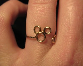 wire wrapped tiny mickey mouse made to order ring - Mickey Mouse Wedding Ring