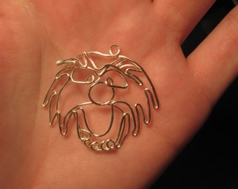 Wire Wrapped Monster Muppet MADE to ORDER Pendant