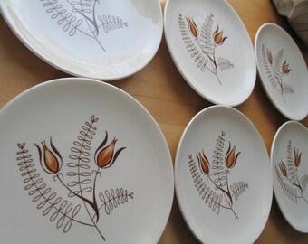 set of six bread plates royal china tanglewood
