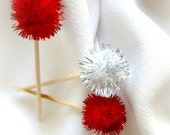 Valentine's Day Decor, Bridal Shower Tabletop Decorations, Appetizer Picks, Food Sticks, Party Decor, 10pcs