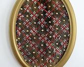 Sequin Patterned Framed Beaver Pelt