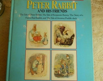 Vintage Beatrix Potter Big Big Book Of Peter Rabbit And His Friends By Beatrix Potter With Her Original Illustrations Vintage Collectible