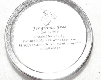 Fragrance Free, Color Free Lotion Bar-All Natural All Organic Lotion Bar, Solid Lotion Bar