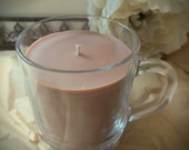 Chocolate Hazelnut Cappuccino Soy Candle, In a Glass Mug, 10 ounces, Reusable Mug