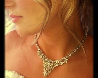 Ice Baby Ice -  Vintage Eisenberg Ice Rhinestone Necklace, Eisenberg signed piece, Vintage Rhinestone necklace, Bridal Necklace