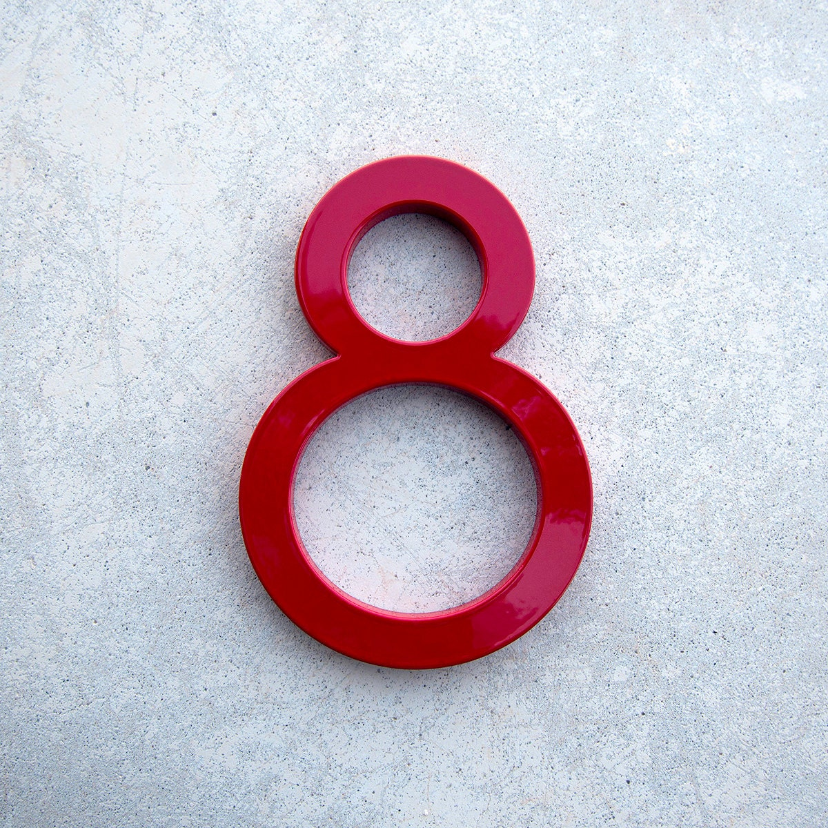 Modern House Number Aluminum Modern Font Number Eight 8 In
