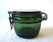 RESERVED RESERVED       French antique Green french canning jar - storage - kitchen - studio