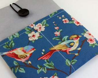 iPad Case, iPad Sleeve, iPad Cover, PADDED, with pockets for iPhone - Sparrows