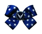 USAF Air Force Hair Bow