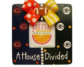 A House Divided Wood Handpainted Picture Frame Custom Any 2 Teams