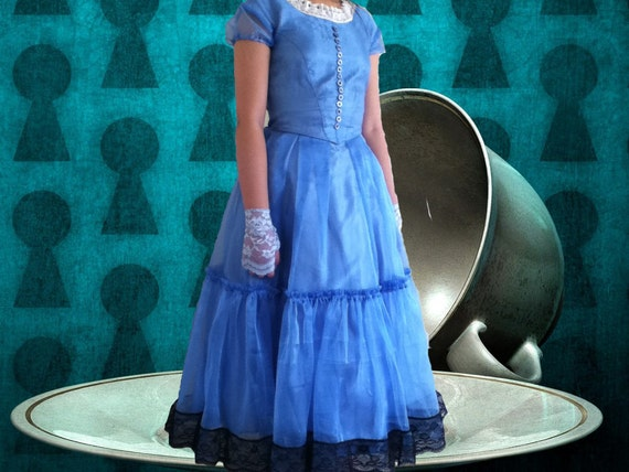 "Tim Burton's ""Alice in Wonderland"" - Alice cosplay dress & FREE fingerless gloves, Party, Play, Halloween, gift for her"
