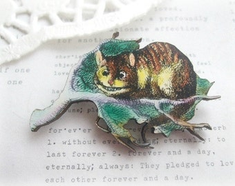 Cat in Tree Brooch