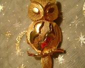 Bright Gold Owl Necklace