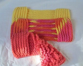 MADE TO ORDER Seamless Crochet Swiffer Mop Cover/ Original Flat or Ruffled  Your choice of color